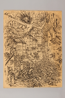 1990.125.3 front Drawing created by a Jewish artist who perished in a concentration camp  Click to enlarge