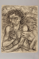 1990.125.5 front Drawing created by a Jewish artist who perished in a concentration camp  Click to enlarge