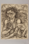 Drawing created by a Jewish artist who perished in a concentration camp