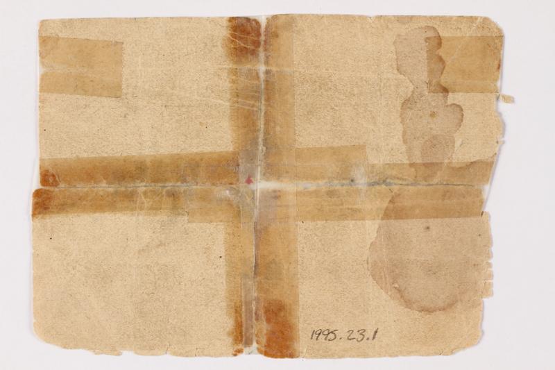 1995.23.1 back Buchenwald Standort-Kantine concentration camp scrip, 1 mark