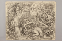 1990.125.6 front Drawing created by a Jewish artist who perished in a concentration camp  Click to enlarge