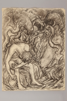 1990.125.7 front Drawing created by a Jewish artist who perished in a concentration camp  Click to enlarge