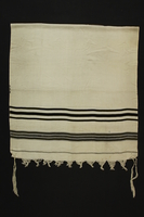 1990.142.1 front Tallit received by a Jewish man in the American zone in postwar Munich  Click to enlarge