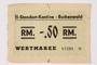 Buchenwald Standort-Kantine concentration camp scrip, -.50 Reichmarks