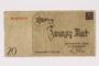Łódź ghetto scrip, 20 mark note