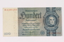 Paper currency note, 100 German marks