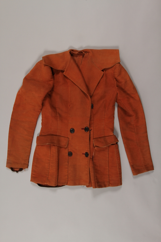 2015.298.2 front Coat worn by a female German Jewish member of the Red Orchestra resistance group