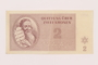 Theresienstadt ghetto-labor camp scrip, 2 kronen note