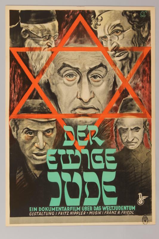 1990.193.10 front Der Ewige Jude antisemitic film poster