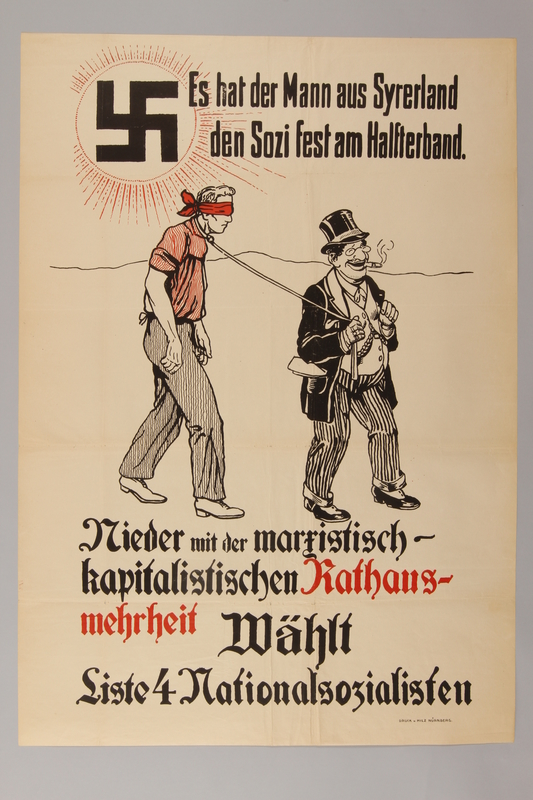 1990.193.11 front Antisemitic campaign poster