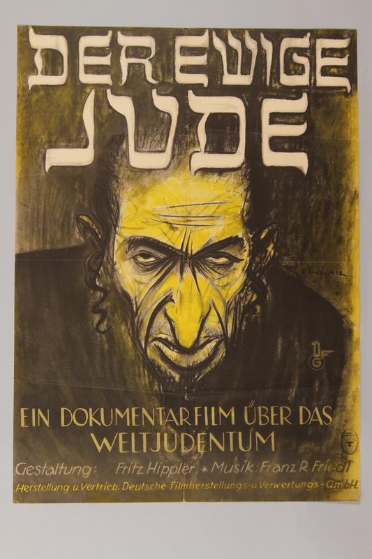 1990.193.8 front Der Ewige Jude antisemitic film poster