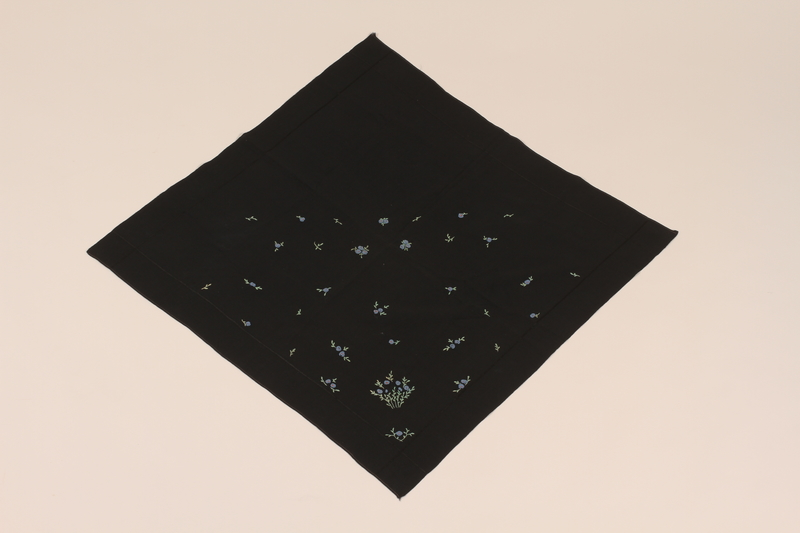1990.207.1 front Scarf made by a concentration camp inmate and given to another inmate
