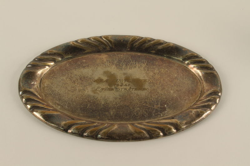 1990.217.2 front Engraved silver tray