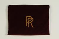 1990.223.1.1 front Monogrammed tallit pouch brought with a German Jewish refugee  Click to enlarge