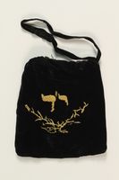 1990.223.1.2_a back Tefillin pair and embroidered pouch brought with a German Jewish refugee  Click to enlarge