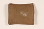 Brown burlap pouch used to carry money by a hidden Dutch Jewish woman