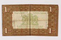 1990.23.193 back Netherlands, 1 gulden silver voucher, kept by a Dutch Jewish woman in hiding  Click to enlarge