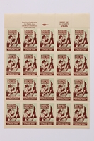 1990.232.2 front Sheet of US poster stamps addressing Polish Jews  Click to enlarge