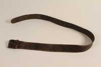 1990.235.2 front Leather belt made and worn by Partisans in the Augustów Forest  Click to enlarge