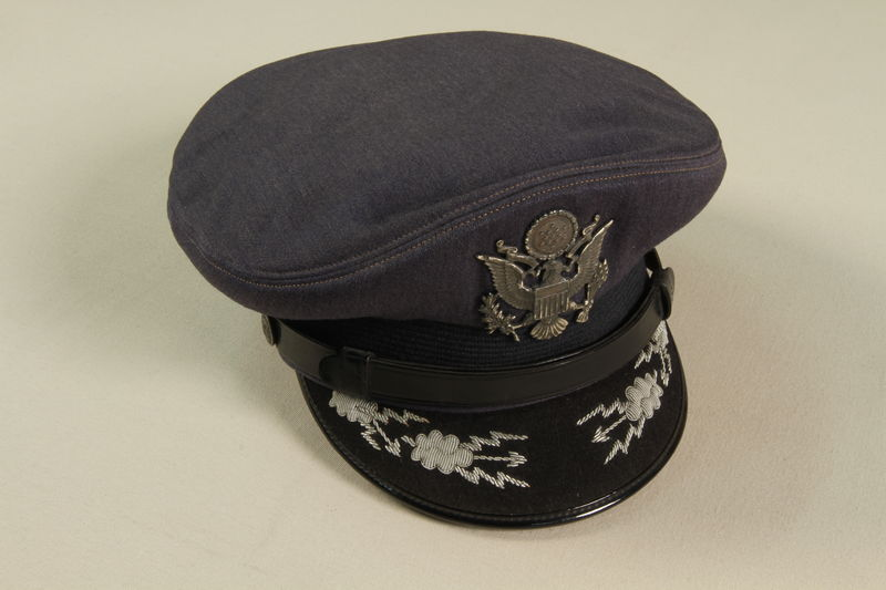 1990.244.28 front US Army officer's hat