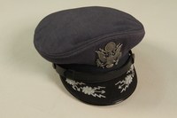 1990.244.28 front US Army officer's hat  Click to enlarge