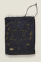 Embroidered blue tefillin bag carried by a Lithuanian Jewish man in hiding