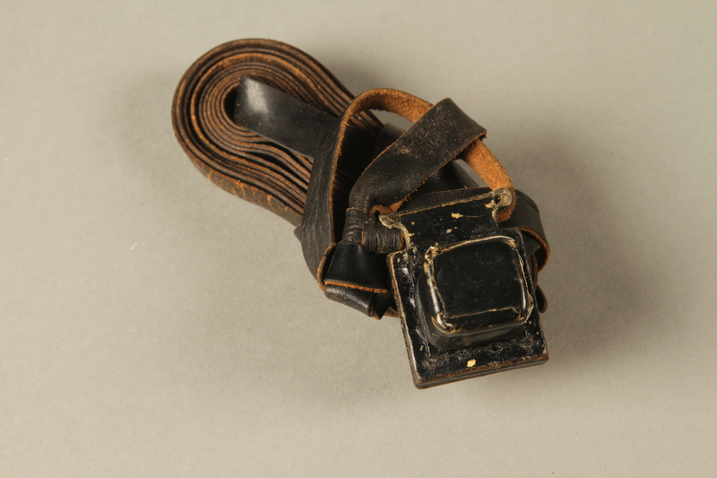 1990.251.1.2 cover on Tefillin worn by a Lithuanian Jewish man in hiding