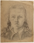 Self portrait with braids by a Jewish teenager in hiding