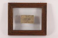 1990.27.1 back Lodz ghetto scrip, 50 pfennig note  Click to enlarge