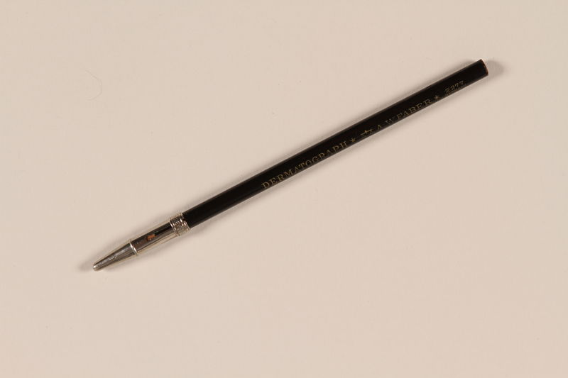 1990.272.1.3 front Faber dermatograph pencil from a carrying case containing anthropometry instruments used in Nazi Germany
