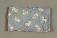 1994.71.1.4 front Cloth printed with white rabbits  Click to enlarge