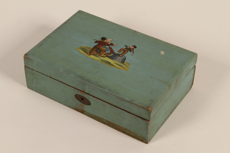 2006.492.2 closed Green school box carried by a Kindertransport refugee