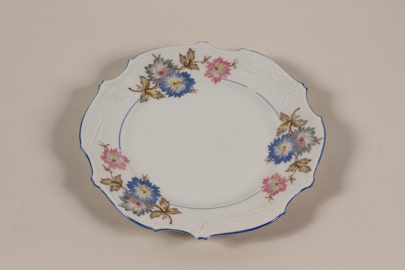 2006.492.6 front Salad plate with a floral design carried by Kindertransport refugee