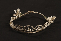 2007.468.3 front Tiara worn by a Jewish woman at her wedding in prewar Budapest  Click to enlarge