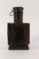 1990.291.2 left Railroad signal lantern with a reflector from Sobibor railroad station  Click to enlarge