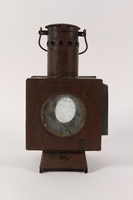 1990.291.2 back Railroad signal lantern with a reflector from Sobibor railroad station  Click to enlarge