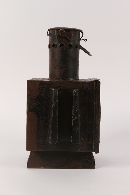 1990.291.2 right Railroad signal lantern with a reflector from Sobibor railroad station