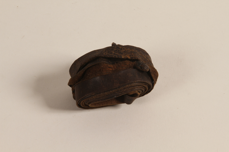 2007.471.5 b front Set of tefillin buried for safekeeping while the owner lived in hiding