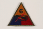 US Army 6th Armored Division shoulder sleeve patch with tank, gun, and red lightning bolt