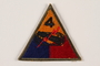 US Army 4th Armored Division shoulder sleeve patch with tank and red lightning bolt
