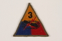 US Army 3rd Armored Division shoulder sleeve patch with tank, gun, and red lightning bolt