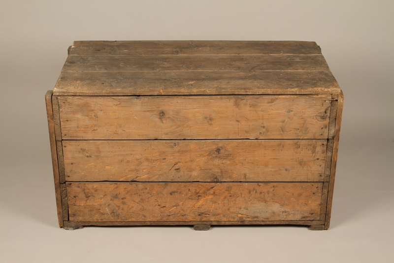 1990.296.1 top Large wooden crate used by Zegota, a Polish underground group, to hide false documents