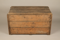 1990.296.1 top Large wooden crate used by Zegota, a Polish underground group, to hide false documents  Click to enlarge