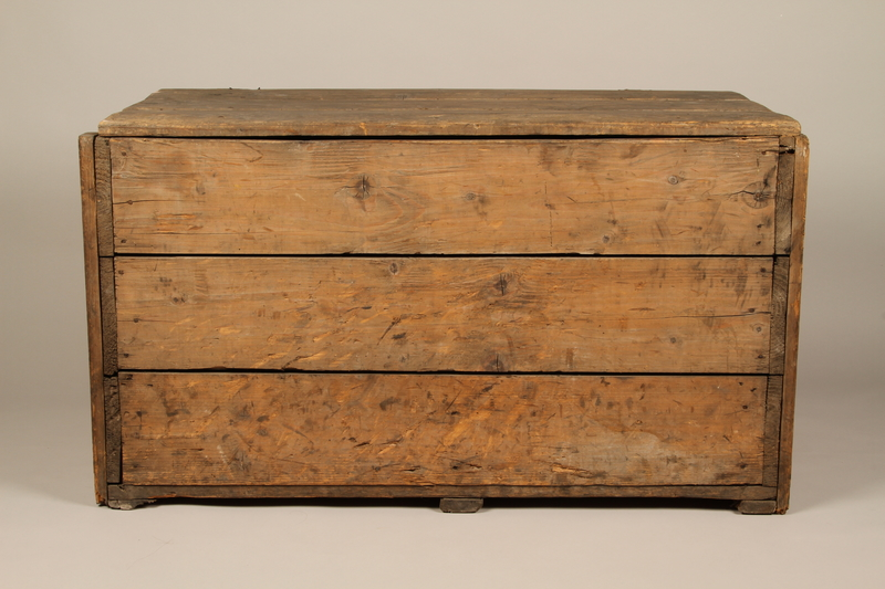 1990.296.1 front Large wooden crate used by Zegota, a Polish underground group, to hide false documents