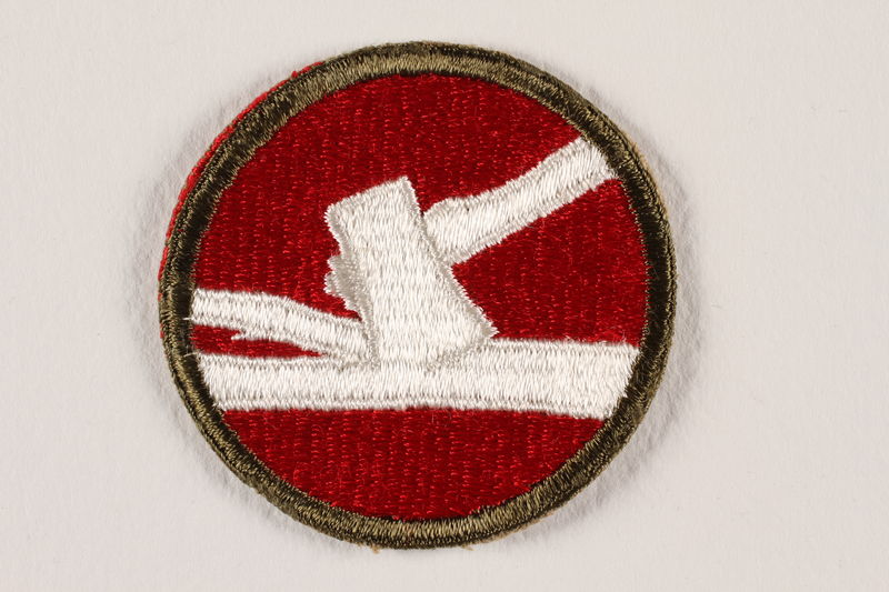 US Army 84th Infantry Division shoulder sleeve patch with an axe