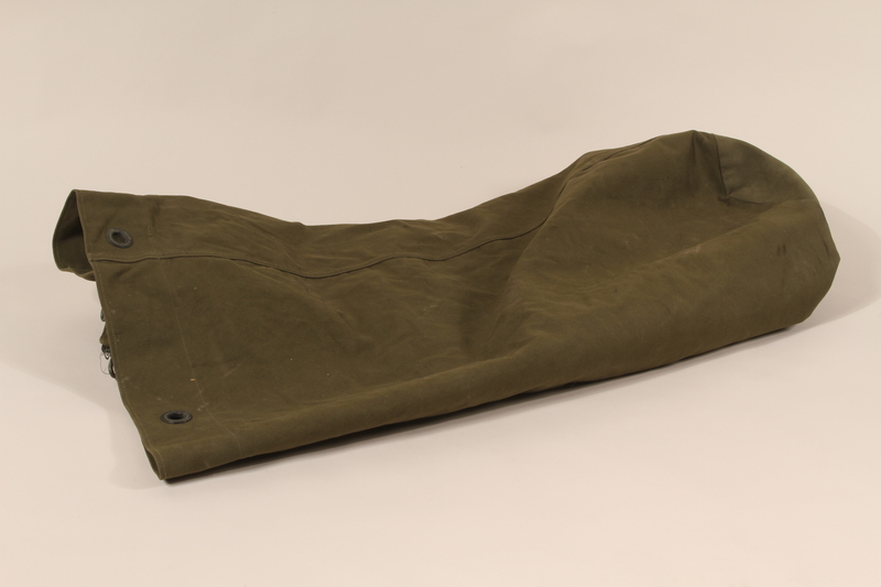 1990.297.1 back Duffel bag used by a US Army soldier during the war in Europe