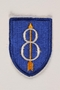 US Army 8th Infantry Division shoulder sleeve patch with an 8 pierced by a yellow arrow