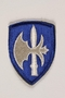 US Army 65th Infantry Division shoulder sleeve patch with a white halberd on a blue field