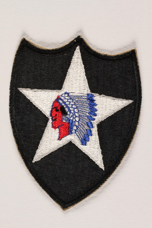 US Army 2nd Infantry Division shoulder sleeve patch with a Native
