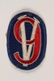 US Army 95th Infantry Division shoulder sleeve patch with a 9 on a Roman numeral V